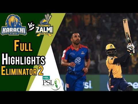 Full Highlights | Karachi Kings Vs Peshawar Zalmi  | Eleminator 2 | 21 March | HBL PSL 2018