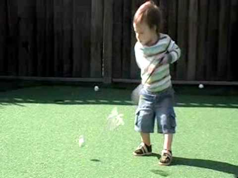 Jack.. the AMAZING baby golfer! Check out the swing!