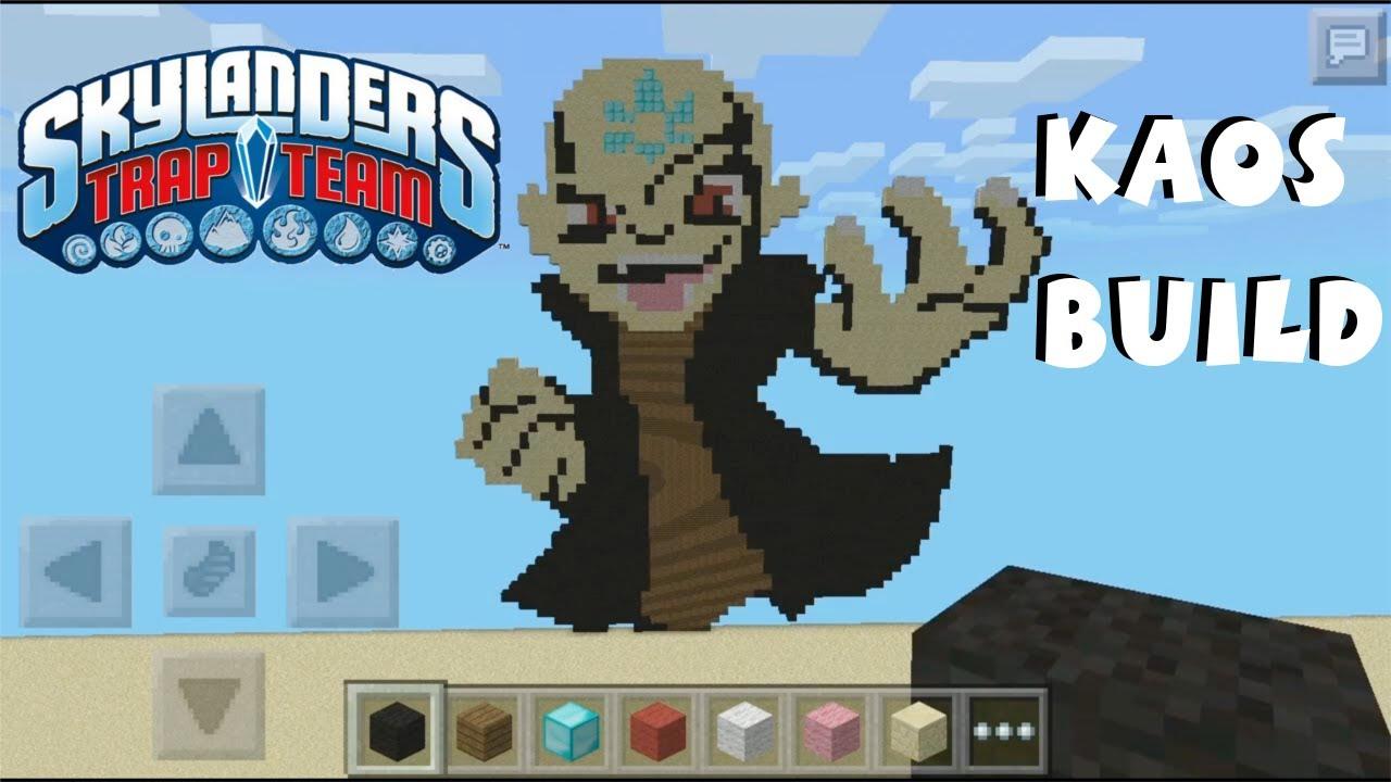 Kaos Skylanders Pixel Art In Minecraft Pocket Edition