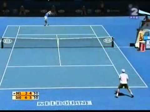 Amer Delic 3 amazing points against Djokovic