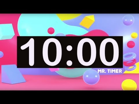 Timer for Kids 10 Minutes! Timer with Music for Classroom, Children!  Instrumental Music for Kids!