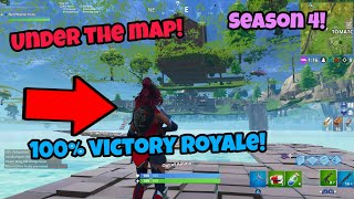 Fortnite Glitches Season 4 (100% victory) Get under the map and win PS4/Xbox one 2018