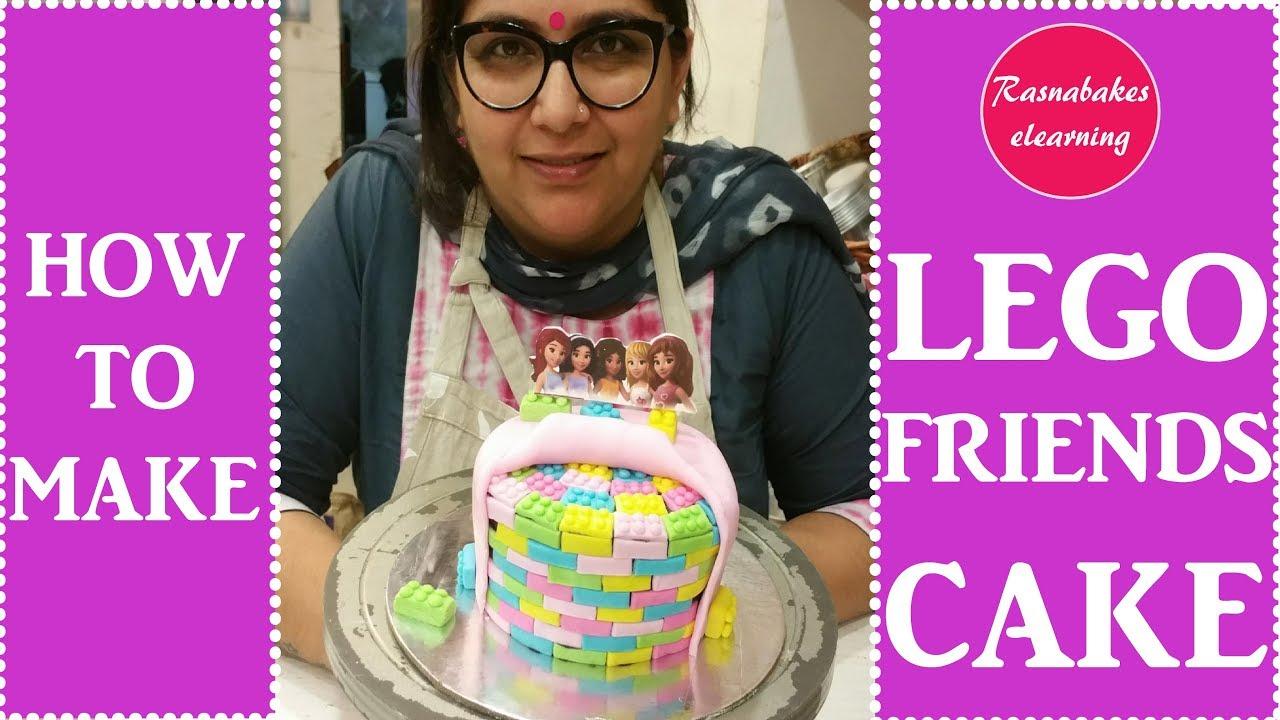 How To Make Lego Friends Theme Birthday Cake Design Ideas Decorating Tutorial Youtube