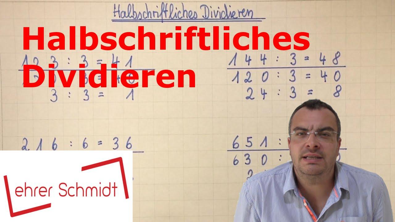 Halbschriftliches Dividieren | Mathematik | Klasse 3 | Grundschule ...
