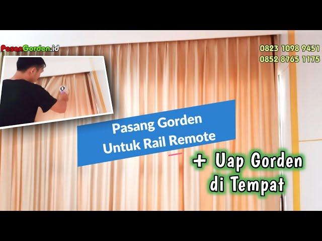 PASANG GORDEN POLOS UNTUK RAIL REMOTE DI WILADATIKA RESIDENCE | PesanGorden.id