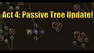 Path of Exile Act 4: First Look @ the Passive Tree Changes including Leech And Vaal Pact!