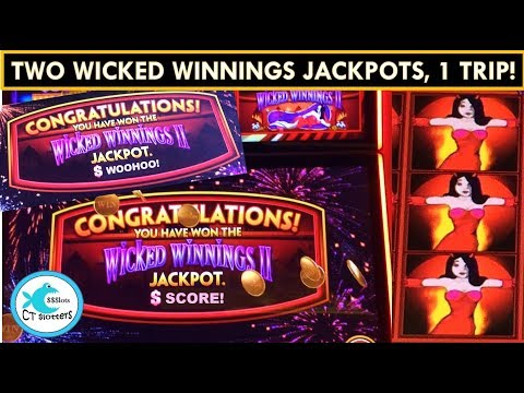 TWICE AS NICE! Two Wicked Winnings Jackpots in One Trip! WONDER 4 SLOT MACHINE