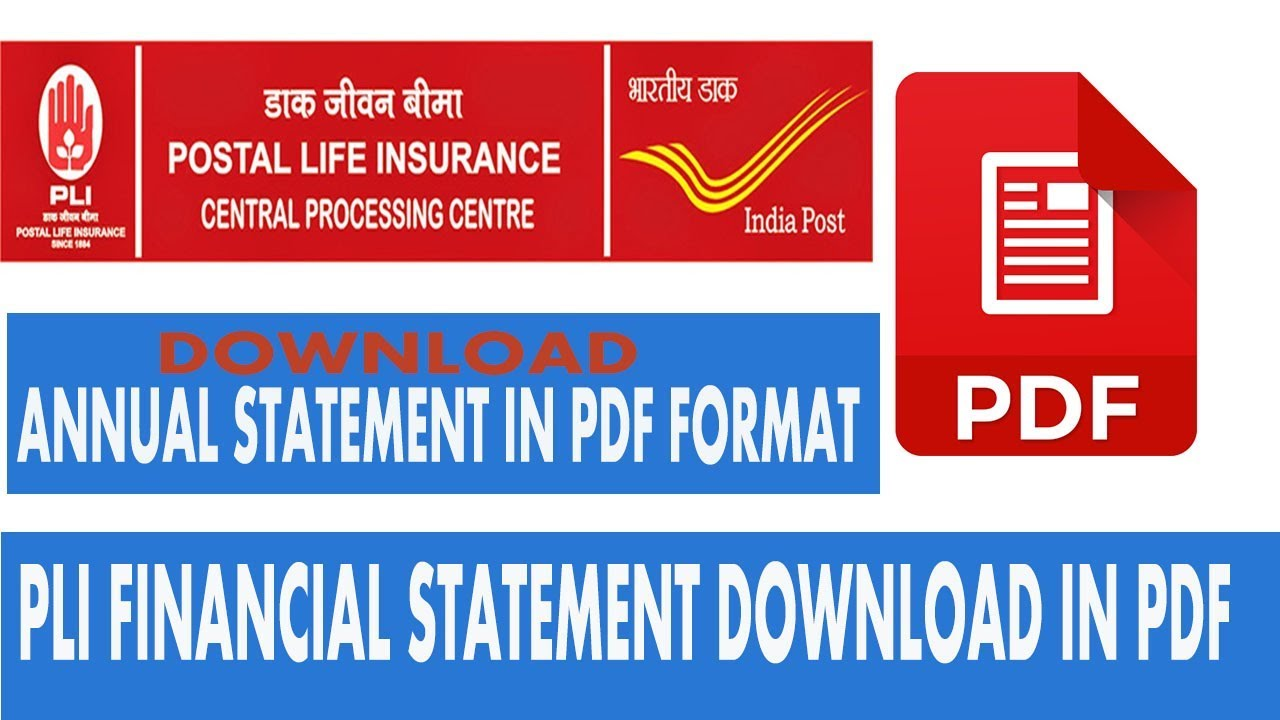 How To Download Pli Financial Statement In Pdf Youtube