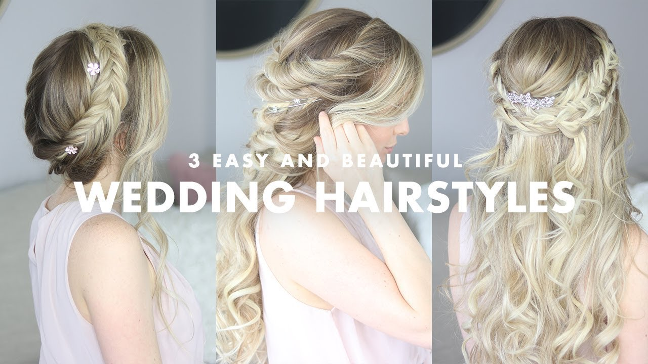 3 Beautiful Wedding Hairstyles - YouTube