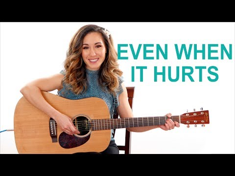 Even When It Hurts - Hillsong Easy Guitar Chords with Play Along