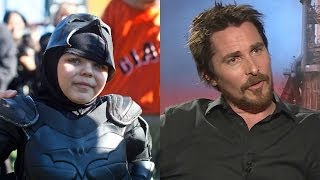 Repeat youtube video Christian Bale & Fellow Batmen Praise Batkid