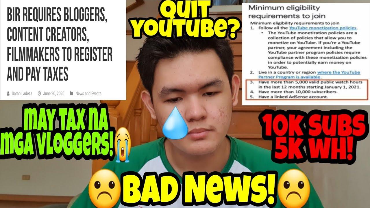 May Tax na Vloggers?! 10k Subs at 5k Watch Hours?! Eto ang Totoo!