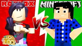 MINECRAFT vs ROBLOX - Desafio de Lucky Block