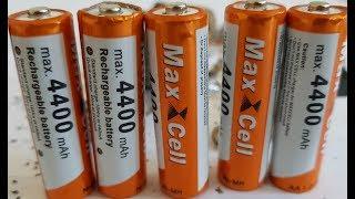 Fake Ebay AA Max Cell 4400mAh - TEST & AUTOPSY - Maxcell battery
