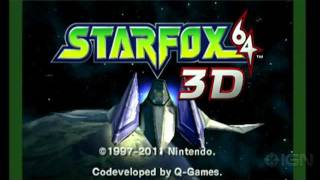 Star Fox 64 3D: Game Opening