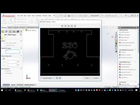 Creating DXF files from Solidworks models and Drawings