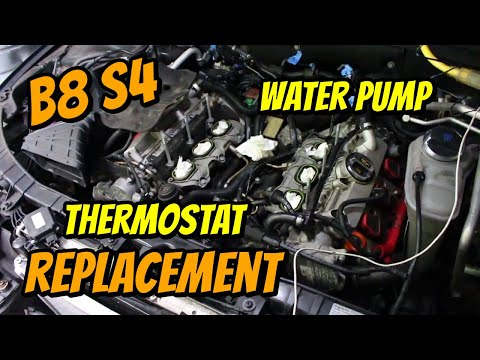 Vlog B8 S4 Water Pump And Thermostat Replacement Youtube