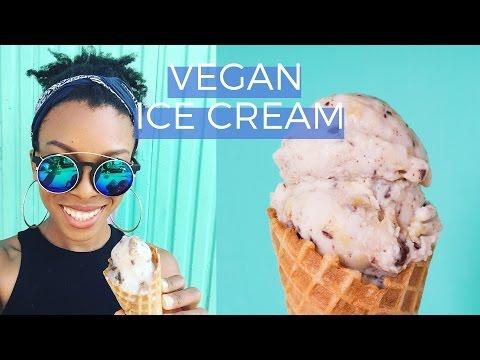 Vegan Ice Cream   Macadamia Milk Base + Grilled Banana & Chocolate