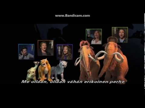 we are family ice age 4 end song (finnish sub)