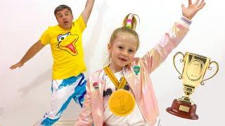 Nastya participa en un concurso de baile