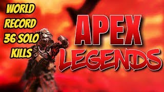 New WORLD RECORD 36 SOLO KILLS APEX LEGENDS TWITCH HIGHLIGHTS