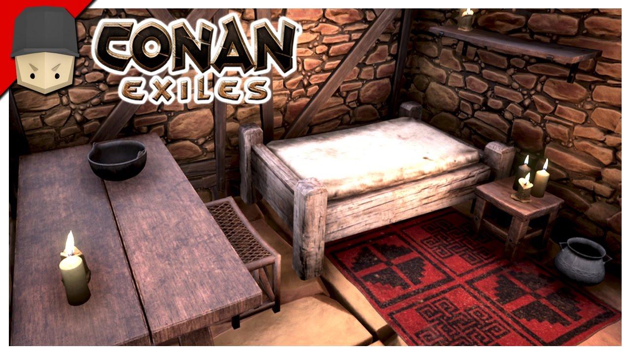 conan exiles interior decoration youtube. Black Bedroom Furniture Sets. Home Design Ideas