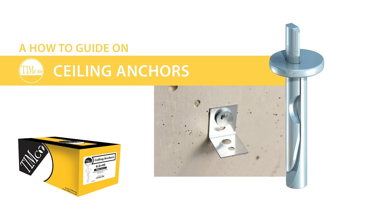 "ceiling anchors - timco ""how to tuesday"" - easy to install"