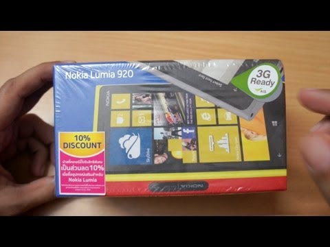 Nokia Lumia 920 Unboxing & first boot