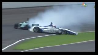 Indylights Indianapolis 100 2017, Herta and Norman Crash, first lap