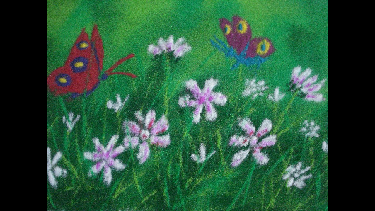 rangoli designs with flowers u0026 butterfly by using scenery shading