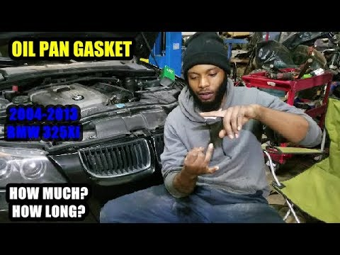 BMW Oil Pan Gasket Replacement Cost & How Long? - YouTube