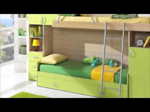 Giwa cameretta a ponte con letto a castello modello Basic - YouTube