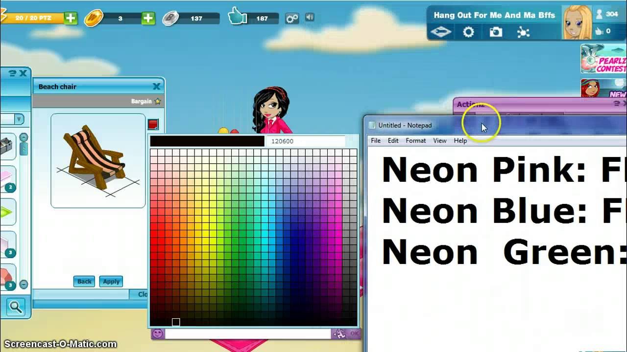 Neon Colour Codes Woozworld