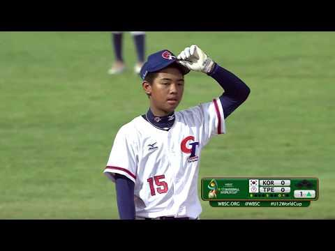 Korea v Chinese Taipei - Super Round - WBSC U-12 Baseball World Cup