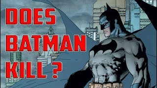 Does Batman Kill? Does Batman Use Guns? A History of Batman and Guns