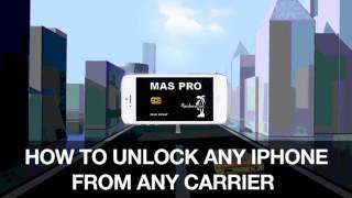 How to unlock any iPhone from any carrier with MAS PRO SIM.