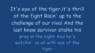 Eye Of The Tiger with Lyrics by 1dz0