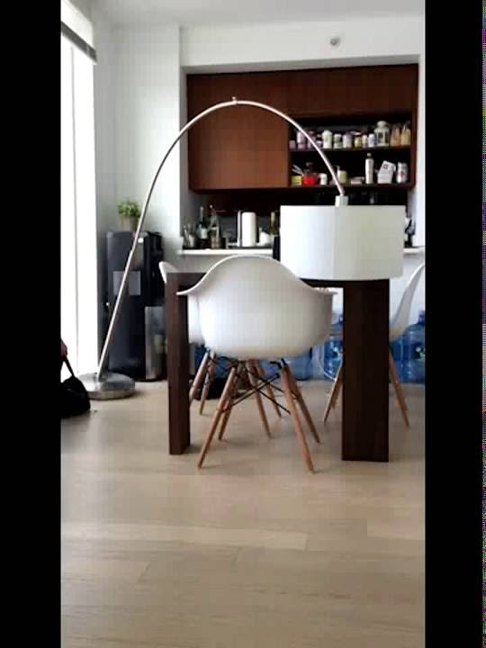 CB2 big dipper arc floor lamp review - YouTube