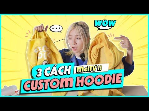 3 Cách Biến Hoodie Cũ Thành Đồ Mới  Cùng Mel TV    CUSTOM ĐỒ CŨ