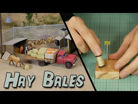 Realistic Hay Bales – Model Railroad Scenery