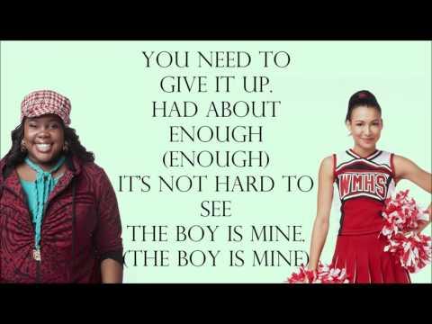 Glee 1x18 - The Boy Is Mine [with lyrics]