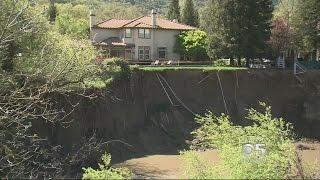 Pleasanton Erosion Creates Dramatic Backyard Cliffs