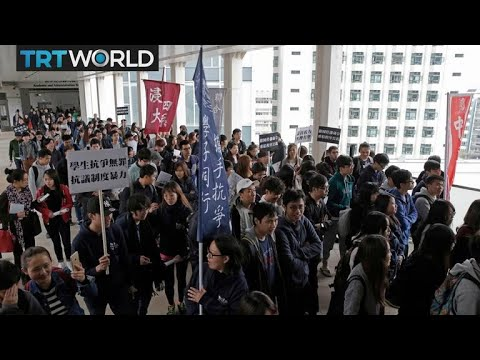 Mandarin Protests: Students protest policy requiring Mandarin test