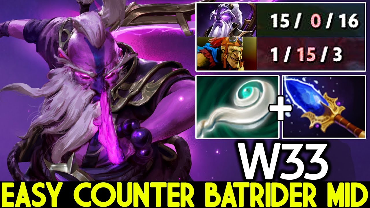 W33 [Void Spirit] He Know how to Counter Batrider Mid Dota 2