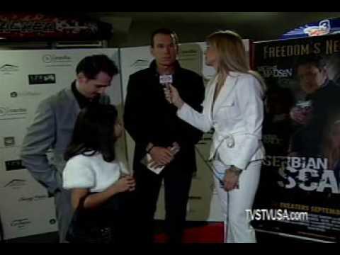 SrbTV Serbian Scars director Brent Huff & Tamara Vesna Serbian Television