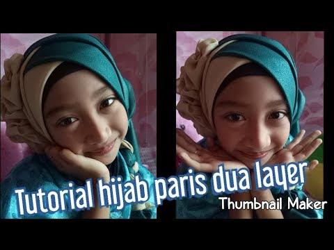 Kreasi Jilbab Segi Empat 3 Warna