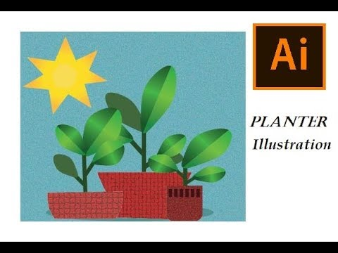 Simple Planter Illustration | Adobe illustrator |Beginners tutorial thumbnail