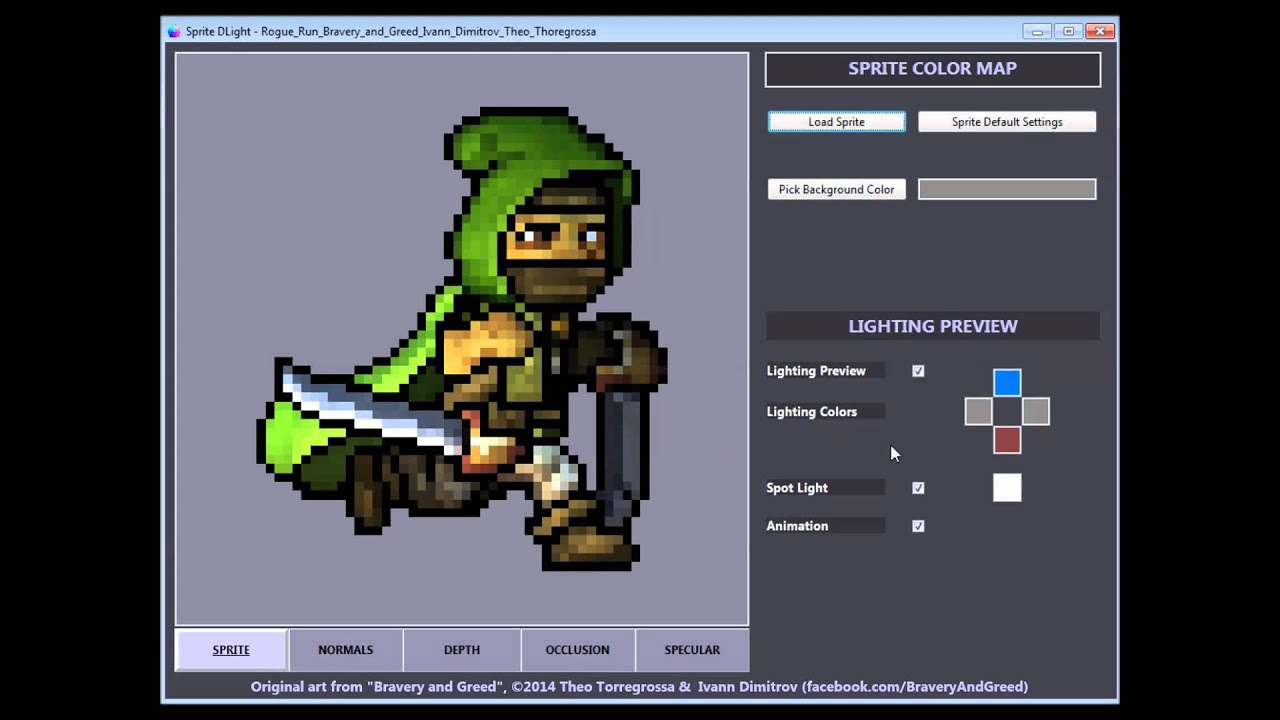 Sprite DLight - Instant normal maps for 2D graphics by Dennis Faas