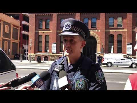 Police speak to media following CDB stabbing