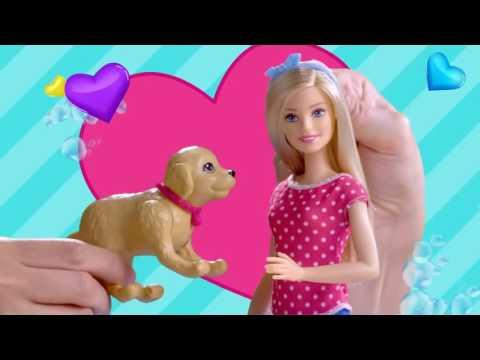 Mattel barbie et son chien heure du bain dgy83 fr youtube - Barbie et son chien ...